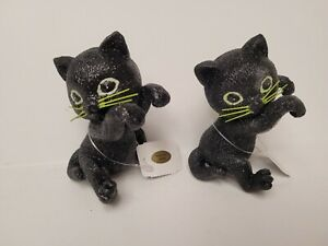 Bath and Body Works Halloween 2021 Black Cat Candle Jar Hanger Set of 2 NWT