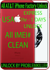FAST SPEED FACTORY UNLOCK SERVICE AT&T APPLE IPHONE 7 SE 6S 6 5S 5C 5 4S 3GS
