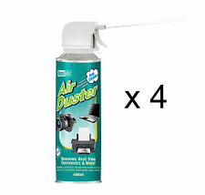 4 x 400ml Compressed Air Duster Cleaner Spray Can Canned Laptop Keyboard Mouse