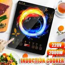 Electric Single Induction Cooker Portable Cooktop Burner 2000W Digital Hot Plate