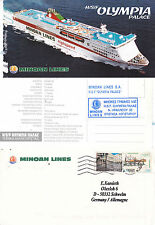 Italian High Speed Ferry HSF OLYMPIA PALACE un des navires en CACHE COVER & CARTE POSTALE