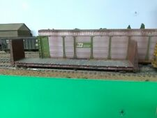HO Weathered Roundhouse SSW Cotton Belt 60' bulkhead flat car