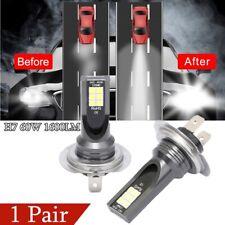 2Pcs Set H7 60W 1600LM LED Car Headlight Conversion Globes Bulbs Beam 6000K Kit
