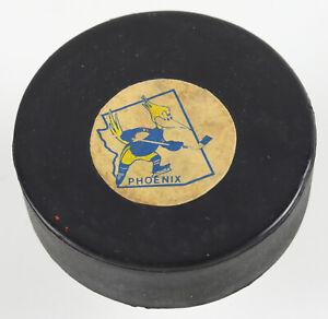 Phoenix Roadrunners WHA Team GAME USED Hockey Puck