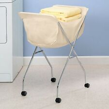 Laundry Hamper Cart Rolling Clothes Storage Basket Wheeled Clothing Sorter Rack