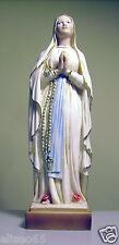 STATUA MADONNA DI LOURDES in polvere di alabastro (Marmo) 21 cm