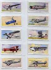 Full Set, Players, Aeroplanes (Civil), 1935 VG (Lt279-347)