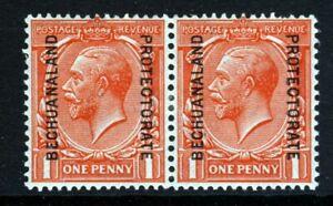 BECHUANALAND PROTECTORATE KG V 1915 Overprint on 1d. Scarlet A PAIR SG 74 MINT