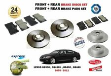 FOR LEXUS GS300 GS450H GS430 GS460 2005> FRONT + REAR BRAKE DISCS SET + PADS KIT
