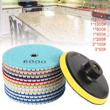 Diamond Polishing Pads Wet Dry Set Kit For Granite Concrete Marble 12PCS 4'' A