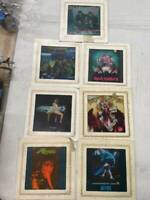 7 Vintage Rock And Roll Carnival Mirror Glass Fair Prizes ACDC, Iron Maiden MORE