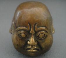 Archaic statue de Buddha du excellent bronze 4 face H: 6cm