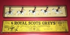 Pre War British Movable Toy Lead Soldiers #32 Box Royal Scots Greys 2nd Dragoons