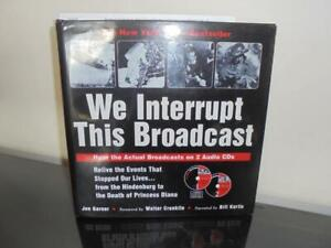 The Book & CD's--We Interrupt This Broadcast--Events That Stopped Our Lives !!!