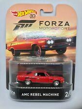 ° Hot Wheels DMC55-20 AMC Rebel Machine Rouge Maßstab 1:64 Modèle Neuf
