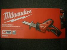 Milwaukee 2420-21 Reciprocating Saw M12 12-Volt Cordless HACKZALL BATTERY CHARGE