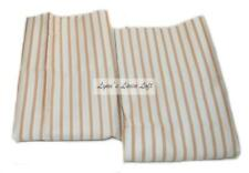 RALPH LAUREN Coral Beach Stripe STANDARD PILLOWCASES SET NEW Cotton Sateen