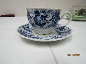 """SELTMANN WEIDEN BAVARIA WEST GERMANY """"THERSIA"""" TEACUP WITH SCALLOPED SAUCER"""