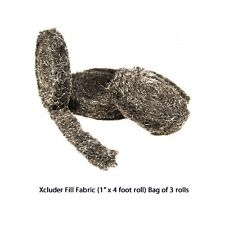 Xcluder Exclusion Fabric Stainless Stops Rodents Snakes Insects 3 Rolls NonToxic