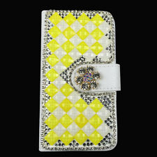 Bling Diamond Rhinestone Leather Stand Case Cover For Alcatel Phones