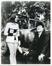 The Avengers Patrick Macnee Diana Rigg with old car in woods 8x10 photo