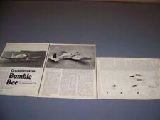 Vintage... Cmelak Z-37 Bumble Bee... .40 Motor R-C Pläne... selten! (148P)