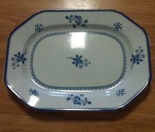 """Vintage SPODE England Fine Stone Gloucester Platter BLUE WHITE FLORAL 14"""" Y2989"""