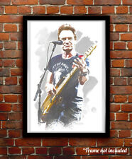 Sting watercolor painting art print/poster The Police Free S&H!