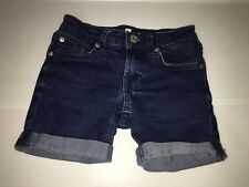 seven for all mankind Blue Girls Flap Denim Stretchy Shorts Sz.7