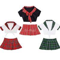 Sexy School Girl Lingerie Outfits Costume Fancy Dress Uniform Roleplay Nightwear