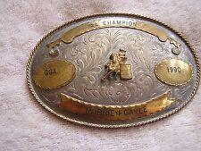 Vintage Barrel Rodeo Belt Buckle Fargo Mexico 1990 AA Champion