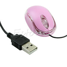 USB Wired Pink Optical Scroll Wheel Laptop Mouse Mice