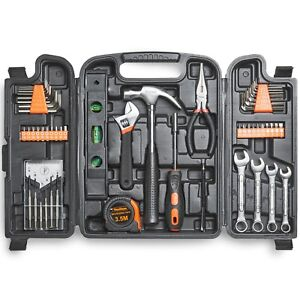 VonHaus 53pc Household Tool Set / Box / Kit - includes Precision Screwdrivers
