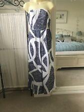 Strapless Blue & White Geometric Jumpsuit Playsuit by Parisian Size UK 8