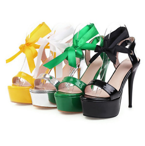 Summer Women's Platform High-heeled Sandals Stilettos Fashion Strap Sandals