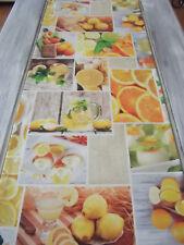 Tischläufer Zitrone Impressionen 170x40 Lemon Zitroneneis Zitronentee Orangerie