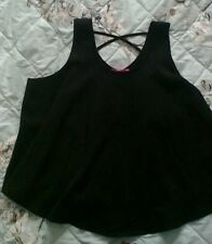 New Look age 12-13 yrs black sleeveless top with crossover back