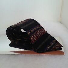 Albert Nipon silk tie classic burgundy multi pattern