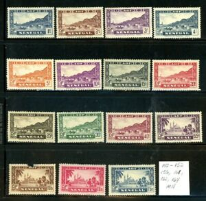 Senegal Scott # 142-152, 156, 161, 162, 164 - MH - CV=$6.20