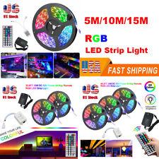 49.2ft/32.8ft RGB 3528 LED Strip Light SMD+44Key Remote+DC 12V Power Kits US