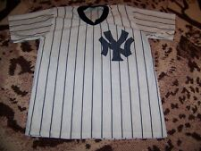 Vintage 1970s PRO KNIT Polyester NEW YORK YANKEES Baseball Jersey Shirt Sz XL