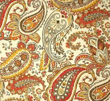 LARGE REMNANT~ Outdoor/ Indoor~Upholstery~AGED PAISLEY~Cream~Fabric~140 x 60cm