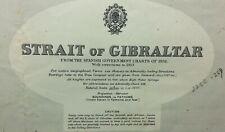 1938 ADMIRALTY SEA CHART. STRAIT of GIBRALTAR. No.142.