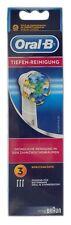 3 x BRAUN Oral B Tiefen-Reinigung Micro Pulse Aufsteckbürsten Floss Action - NEU