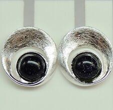 Edler funkelnder Blaufluss Ohrstecker 925 Sterling Silber Ohrschmuck Ohrring