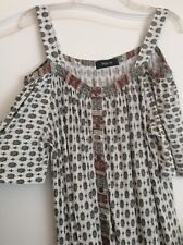 New Style&Co  - Off White/Multi Color,open Shoulders Tunic Top Plus 1X