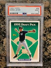 1993 TOPPS DEREK JETER ROOKIE CARD NUMBER #98 PSA 9 MINT