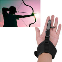 Archery Adjustable Release Aid Caliper Wrist Buckle Strap Compound Arrow Bow AF