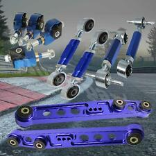 1988-1991 Honda CRX Rear Lower Control Arm Front Rear Camber Toe Arm Kit Blue