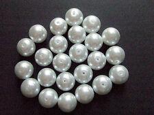 15pz  perline in vetro  cerato 12mm colore bianco